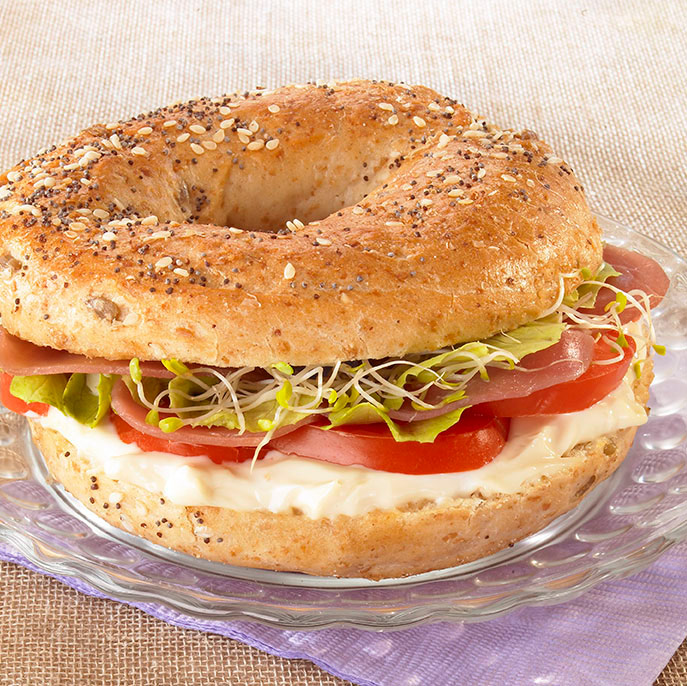 Le bagel de New York au Maredsous® Jambon Light