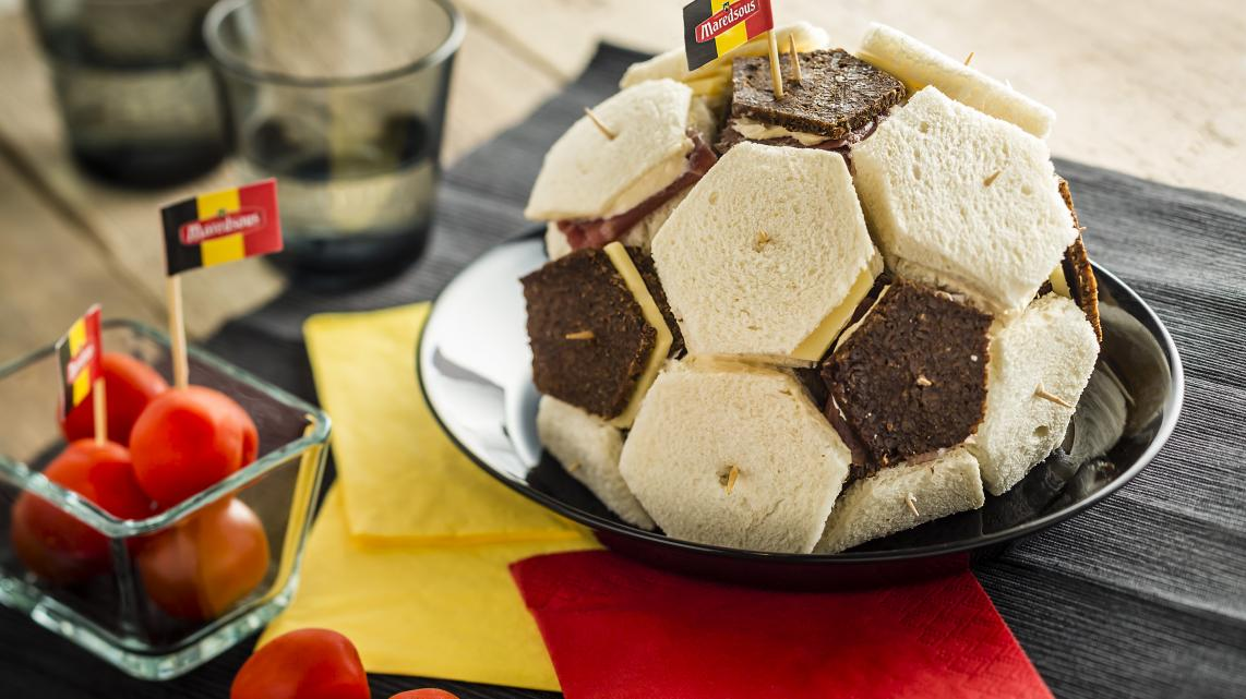 Mini-Sandwichs en ballon de foot