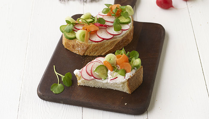 Tartines au Maredsous® Light et radis